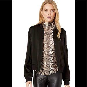 BCBGMaxAzria Black satin Sammy jacket
